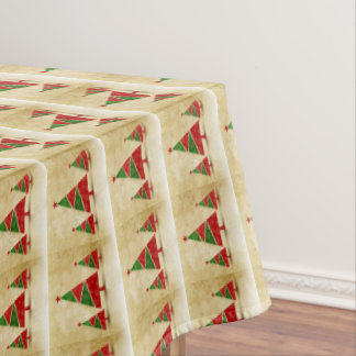 Rustikal, Aquarell, Weihnachtsbäume, Feiertag Tischdecke