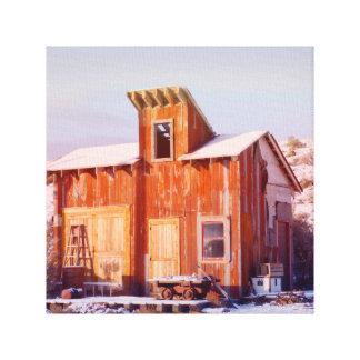 Rustikale alte hölzerne Ranch ländlichen Gespannter Galeriedruck