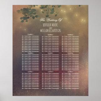 Rustikale Baumaste, die Sitzplatz-Diagramm Wedding Poster