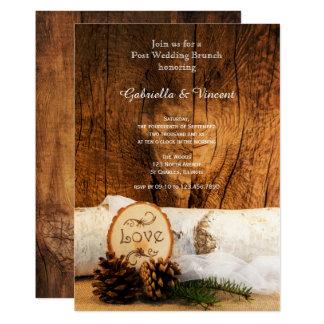 Rustikale Birken-Baum-Scheunen-hölzerner 12,7 X 17,8 Cm Einladungskarte