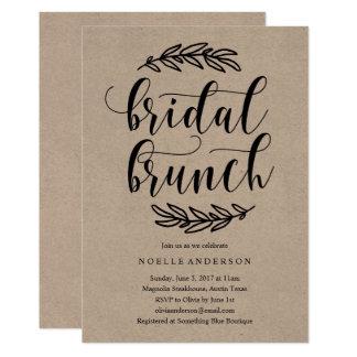 Rustikale Brautpartybrunch-Einladung 12,7 X 17,8 Cm Einladungskarte