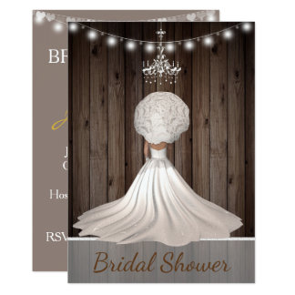 Rustikale dennoch elegante Brautparty-Einladung Karte