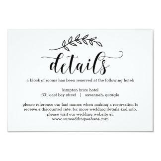 Rustikale Eleganz-Hochzeit führt Karte