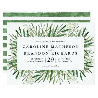 Rustikale Frühlings-Hochzeits-Einladungen Karte