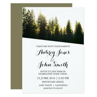 Rustikale Gebirgswinter-Hochzeits-Einladung 12,7 X 17,8 Cm Einladungskarte