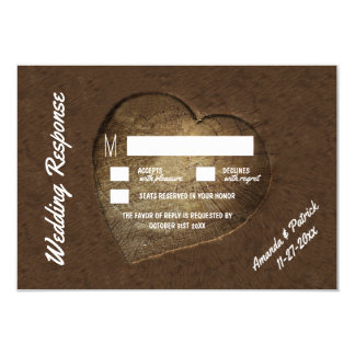 Rustikale geschnitzte Baum-Scheibe-Hochzeit UAWG Karte