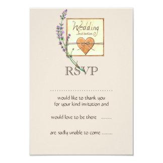 Rustikale Herz-Hochzeit UAWG-Karte 8,9 X 12,7 Cm Einladungskarte