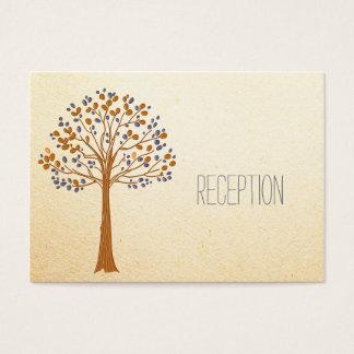 Rustikale Hochzeit, Hochzeit im Herbsts-Empfang Visitenkarte