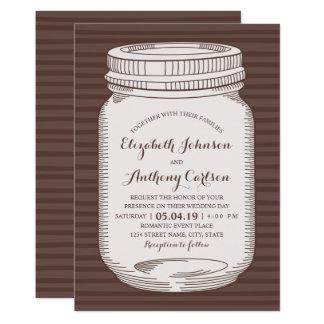 Rustikale Hochzeits-einzigartiges Vintages Karte