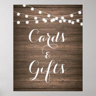 Rustikale Hochzeits-Karten-u. Poster