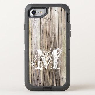Rustikale hölzerne Bretter mit Shabby OtterBox Defender iPhone 8/7 Hülle