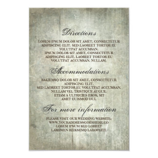 Rustikale hölzerne Hochzeits-Details - Karte