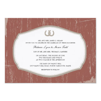 Rustikale Hufeisen-Scheunen-Hochzeit Personalisierte Einladungskarten