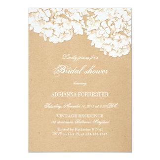 Rustikale Hydrangeas-BlumenBrautparty 12,7 X 17,8 Cm Einladungskarte