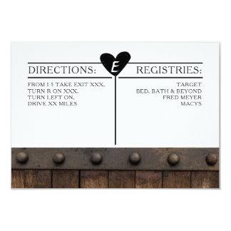 Rustikale industrielle Hochzeits-Einzelkarte 8,9 X 12,7 Cm Einladungskarte
