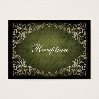 Rustikale königliche dekorative Grün-und Visitenkarte