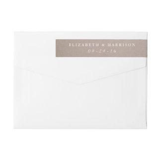 Rustikale Land-Kraftpapier-Hochzeit Rundum Rückversand Adress Aufkleber
