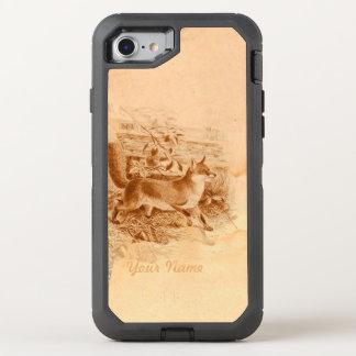 Rustikale Land-Seite Brownenglische Fox OtterBox Defender iPhone 7 Hülle