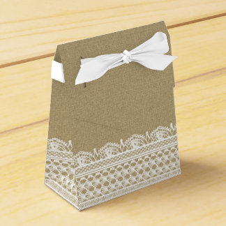 Rustikale Leinwand-Spitze-Land-Hochzeit Geschenkkartons