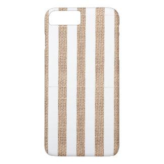Rustikale Leinwand u. weißer iPhone 7 Plus Hülle