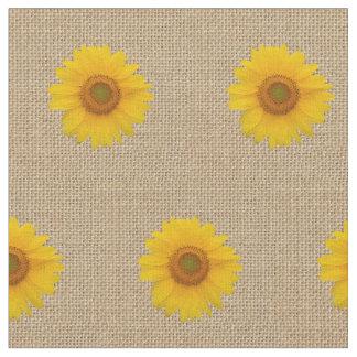 Rustikale Leinwand und Sonnenblume Stoff
