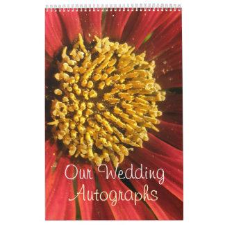 Rustikale rote Hochzeit Abreißkalender