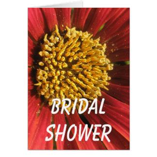Rustikale rote Hochzeit Karte