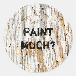 Rustikale Schalen-weiße Farben-abstrakte Runder Aufkleber