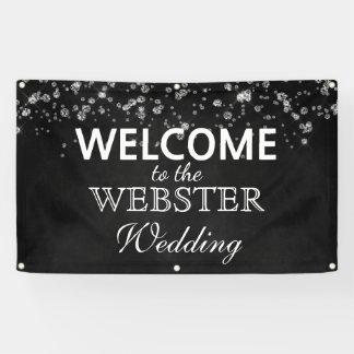 Rustikale schwarze Tafel-Diamant-elegante Hochzeit Banner