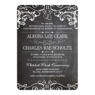 Rustikale Tafel-Vintage Typografie laden ein 12,7 X 17,8 Cm Einladungskarte