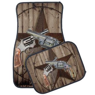 rustikale Texas-Sterncowboy-Western-Landpistolen Autofußmatte