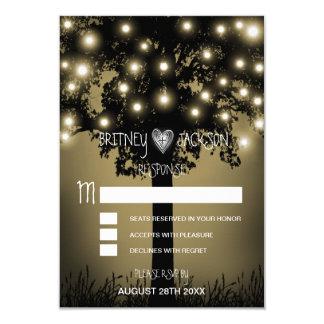 Rustikale verzauberte Eichen-Baum-Hochzeit UAWG 8,9 X 12,7 Cm Einladungskarte