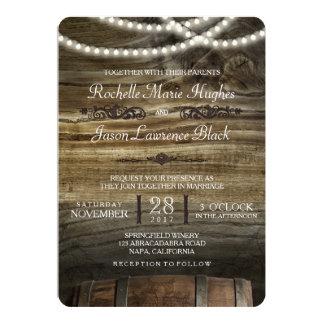 Rustikale Weinkellerei-Hochzeits-Einladung 12,7 X 17,8 Cm Einladungskarte