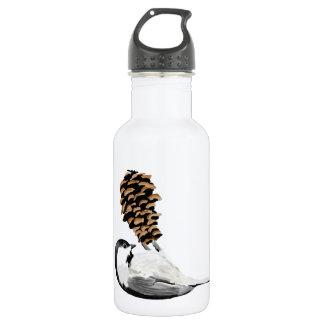 Rustikaler Chickadee und pinecone Hand geschaffen Trinkflaschen