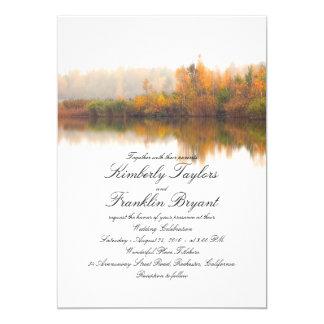 Rustikaler Fall-elegante und einfache Hochzeit Karte