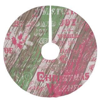 rustikaler Feiertag des Baumrockes Weihnachts Polyester Weihnachtsbaumdecke
