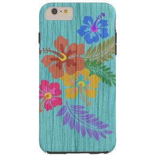 Rustikaler hawaiischer Blumen-Druck Tough iPhone 6 Plus Hülle