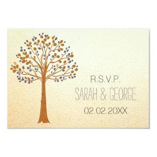 Rustikaler Hochzeit im Herbsts-uAwgstandard 3,5 x Individuelle Ankündigungskarte