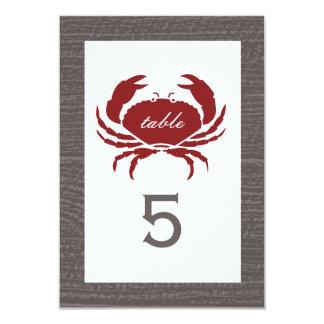 Rustikaler Krabben-Hochzeits-Empfang 8,9 X 12,7 Cm Einladungskarte