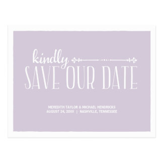Rustikaler LandChic Save the Date Postkarten