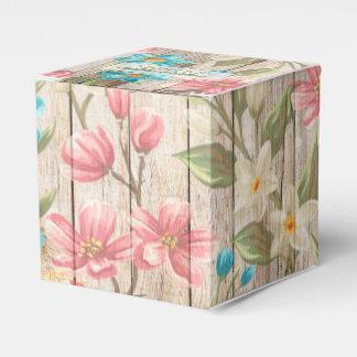 Rustikaler schicker Blumenbevorzugungs-Kasten Geschenkschachtel