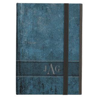 Rustikaler Schmutz-blaues Buch-Entwurf