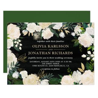 Rustikales Aquarell-blasse 12,7 X 17,8 Cm Einladungskarte