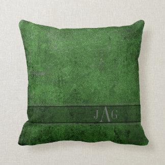 Rustikales Bucheinband-Kissen im Smaragdgrün Kissen