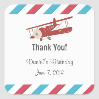 Rustikales Flugzeug danken Ihnen Aufkleber