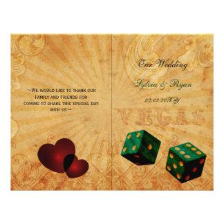 Rustikales gefaltetes Wedding Programm Flyer