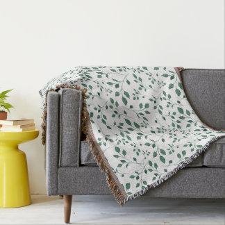 Rustikales grünes Aquarell-Laub-Muster Decke