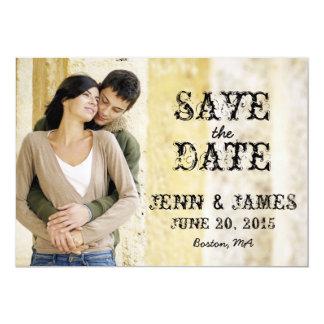 Rustikales Hochzeits-Foto Save the Date 12,7 X 17,8 Cm Einladungskarte