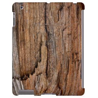 Rustikales Holz iPad Hülle