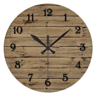 Rustikales Imitat hölzern Uhr
